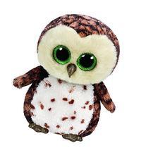 Ty Sammy Owl Plush, Brown, Medium