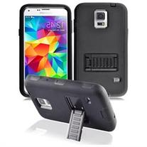 Samsung Galaxy S5 Case, Tough Rugged Hybrid Cover With Stand