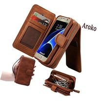Samsung Galaxy S7 Dermis Wallet case,Aroko Handmade Genuine