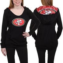 San Francisco 49ers Women's Black Sublime Hooded Sweatshirt