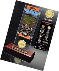 San Francisco Giants 8-time WS Champs Ticket Acrylic & Coin