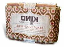 Sandalwood Rose Aromatherapy Bar Soap by KIND Soap Company