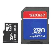 SanDisk 32GB MicroSDHC Memory Card with Adapter  + USB2.0