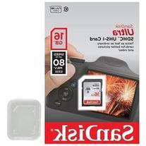 SanDisk 16GB SD 16G SDHC Ultra 80MB/s Class 10 533X UHS-I
