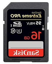 SanDisk Extreme PRO 16GB up to 95MB/s UHS-I/U3 SDHC Flash