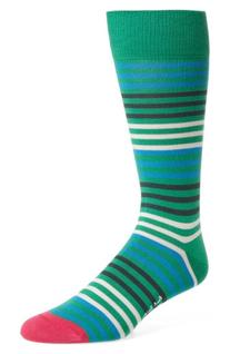 Men's Paul Smith Sanny Stripe Socks, Size One Size - Green