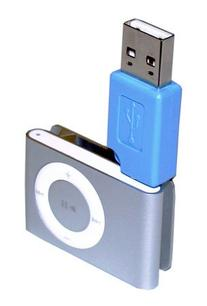 SANOXY Blue - iPod Shuffle 2nd Generation USB Charger