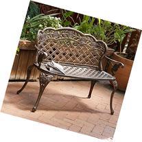 Great Deal Furniture Santa Fe Cast Aluminum Garden Bench