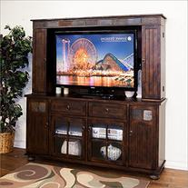 Sunny Designs Santa Fe Entertainment Wall Media Hutch on