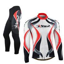 Santic Fleece Fabric Men Cycling Wicking Long-sleeve Jersey