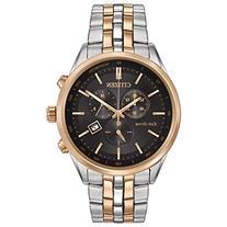 Men's Citizen Eco-Drive Sapphire Two-Tone Black Dial Watch