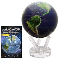 6 Inch MOVA Satellite View with Gold Map Globe, bundled with