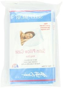Satin Pillowcase with Zipper, King Size, Blue