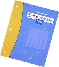 Saxon Math 6/5 Solutions Manual