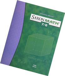 Saxon Math 7/6,  Solutions Manual