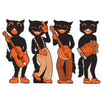 Beistle 4-Pack Scat Cat Band Cutouts, 17-Inch