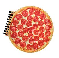 iscream Scented Pizza Shaped Notebook