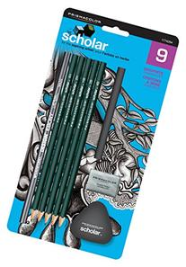 Prismacolor Scholar Drawing Set, with 7 Pencils & 2 Erasers