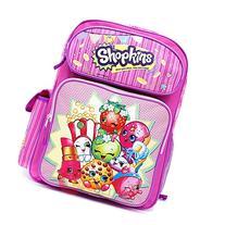 "Shopkins Large School Backpack 16"" Girls Book Bag"