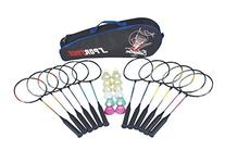 Sportime School Badminton Set - Includes 12 Racquets, 12