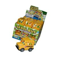 School Bus Pull Back Friction Action Bus Filled with Candy