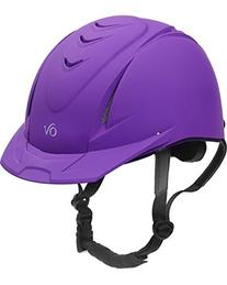 Ovation Girls' Schooler Deluxe Riding Helmet Purple M/L US