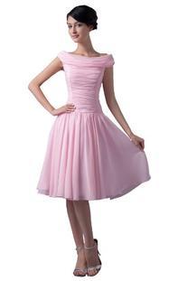 Dresstells Scoop Knee-length Short Prom Dress Chiffon Beach