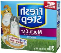 Fresh Step Multi-Cat Scented Litter with the Power of