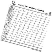 50 Sheet Scorepad for Chicken Foot Dominoes