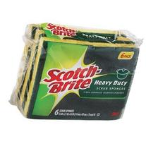 Scotch-Brite Scrub Sponge 6 / Pack Green Yellow