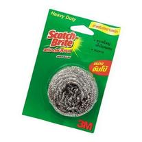 3m Scotch-brite Stainless Steel Scouring Pad, Heavy Duty 1-