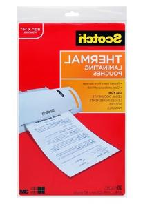 Scotch Thermal Laminating Pouches, 8.9 x 14.4-Inches, Legal