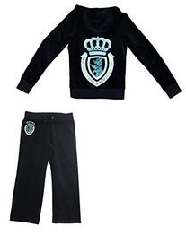 Juicy Couture Girls Scottie Crown Tracksuit Hoodie and Pants