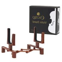 Cecilio SD-VN Portable Violin Stand with Bow Holder - Brown