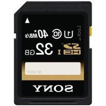Sony 32GB SDHC Class 10 UHS-1 R40 Memory Card