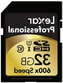 Lexar Professional 600x 32GB SDHC UHS-I Flash Memory Card