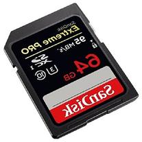 SanDisk Extreme PRO 64GB up to 95MB/s UHS-I/U3 SDXC Flash