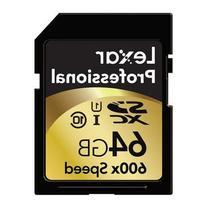 Lexar Professional 600x 64GB SDXC UHS-I Flash Memory Card