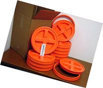 Gamma Seal Lid, Orange, 12 Pack - New! - Boxed! - 5 Gallon