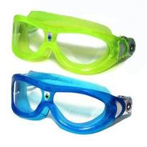 KIDS Seal 2 Pack Swim Goggles - 1Blue & 1Lemon Lime - Clear