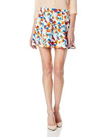 BCBGeneration Women's Seamed A-Line Skirt, Passion Multi, 6