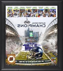 Seattle Seahawks 12th Fan Super Bowl XLVIII Champions Framed