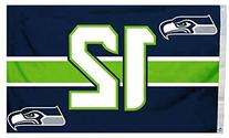 NFL Seattle Seahawks Flag with Grommets, 3' X 5', Blue/Green