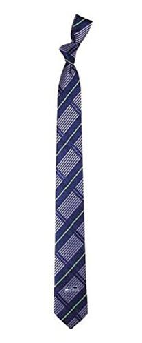 Seattle Seahawks Necktie, Skinny Plaid 2.5 Wide