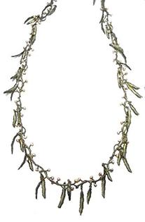 """Seaweed 30"""" Necklace with Pearls By Michael Michaud"""