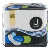 U By Kotex Security Maxi Pads Long Super - 22 CT