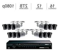 Lorex 16 Channel HD 1080p Security System with 2TB HDD and