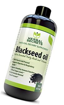 Herbal Secrets - 100% Pure and Cold Pressed Blackseed Oil,