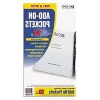 C-Line Self-Adhesive Add-On Filing Pockets, 8-3/4 x 5-1/8,