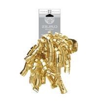 Jillson Roberts Self-Adhesive Curly Bows, Gold Metallic, 6-